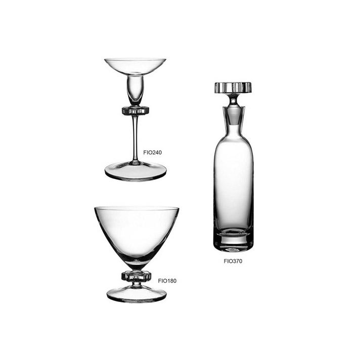Καράφα κρυστάλλινη με ποτήρι κρασιού ασορτί