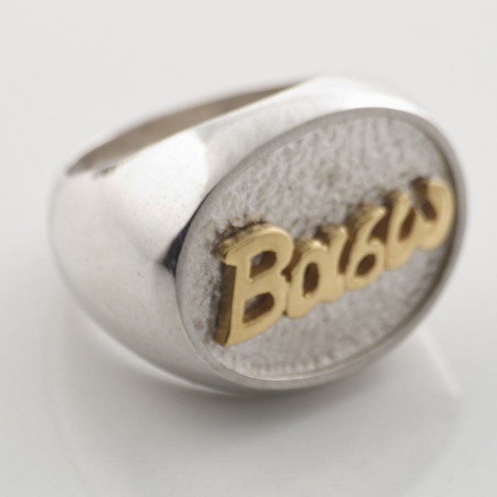 Δαχτυλίδι ασημένιο σε όλα τα ονόματα.