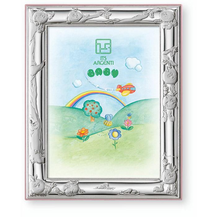 Παιδικά δώρα κορνίζα ασημένια με σχέδιο