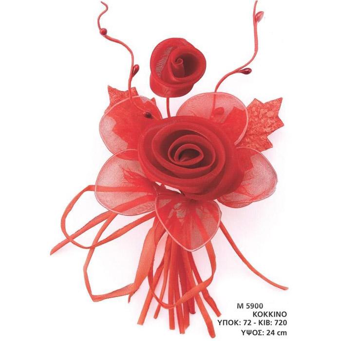 Μπομπονιέρες γάμου τριαντάφυλλο κόκκινο