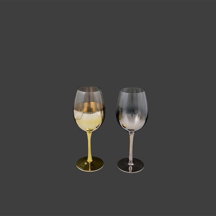 Χρωματιστό ποτήρι κρυστάλλινο κρασιού