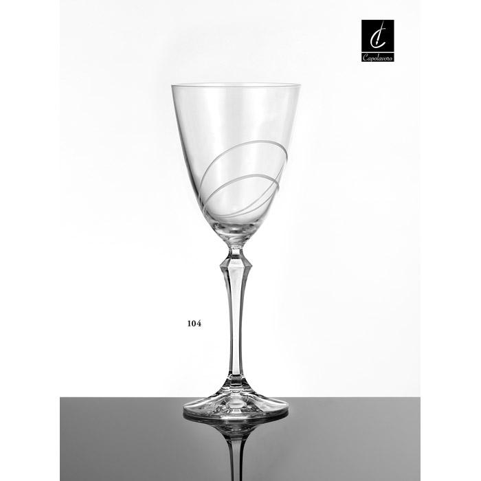 Ποτήρι γάμου κρυστάλλινο κρασιού.
