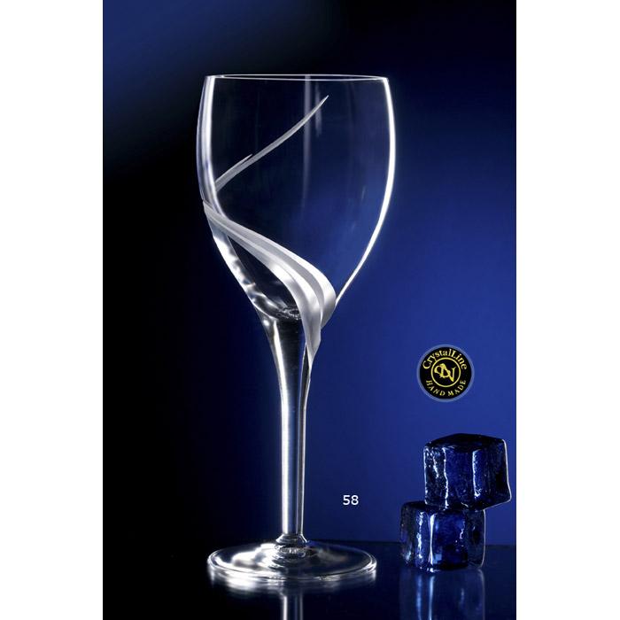 Ποτήρι γάμου κρυστάλλινο κρασιού