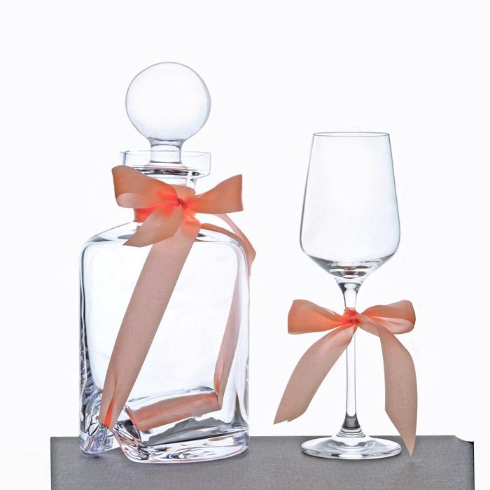 Σετ γάμου καράφα και ποτήρι κρυστάλλινο