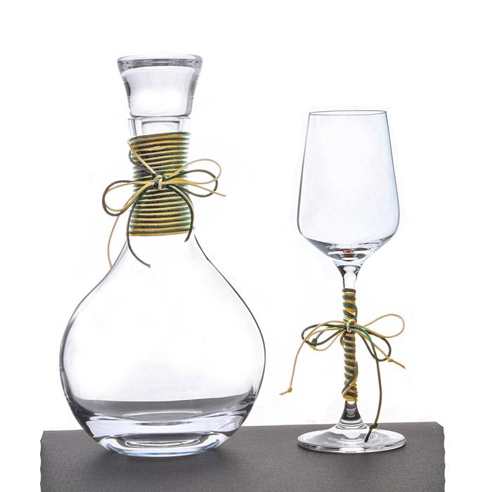Σετ γάμου καράφα ποτήρι κρασιού κρυστάλλινο