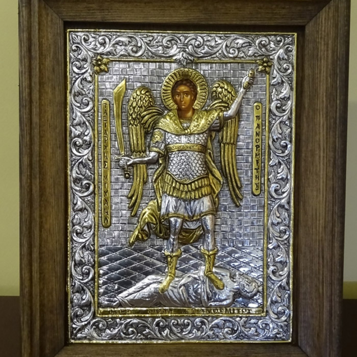 Ταξιάρχης Μιχαήλ Πανορμίτης εικόνα ασημένια