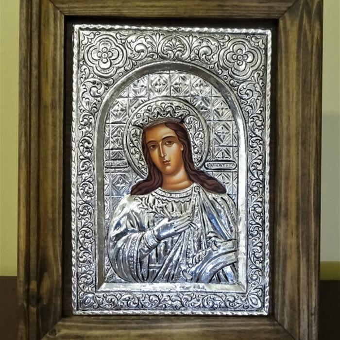 Εικόνα ασημένια Αγία Αικατερίνη