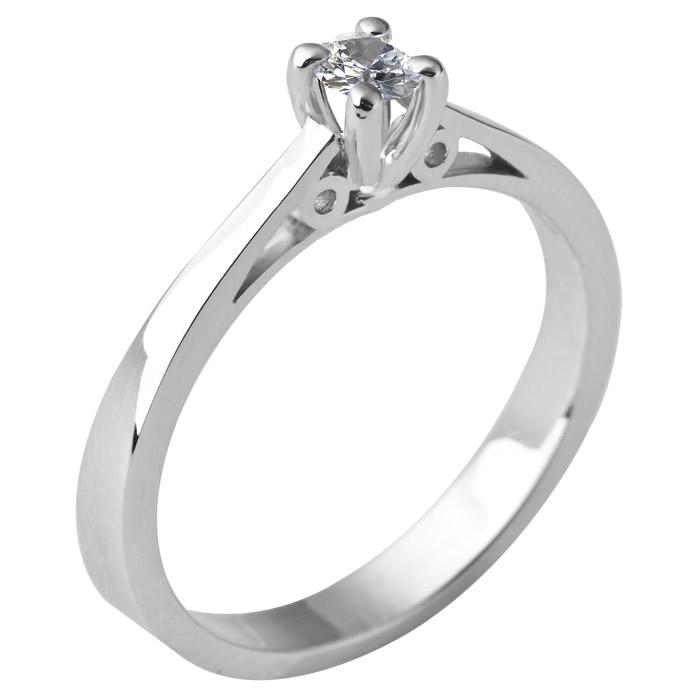 Μονόπετρο δαχτυλίδι μπριγιάν με εγγύηση & πιστοποίηση