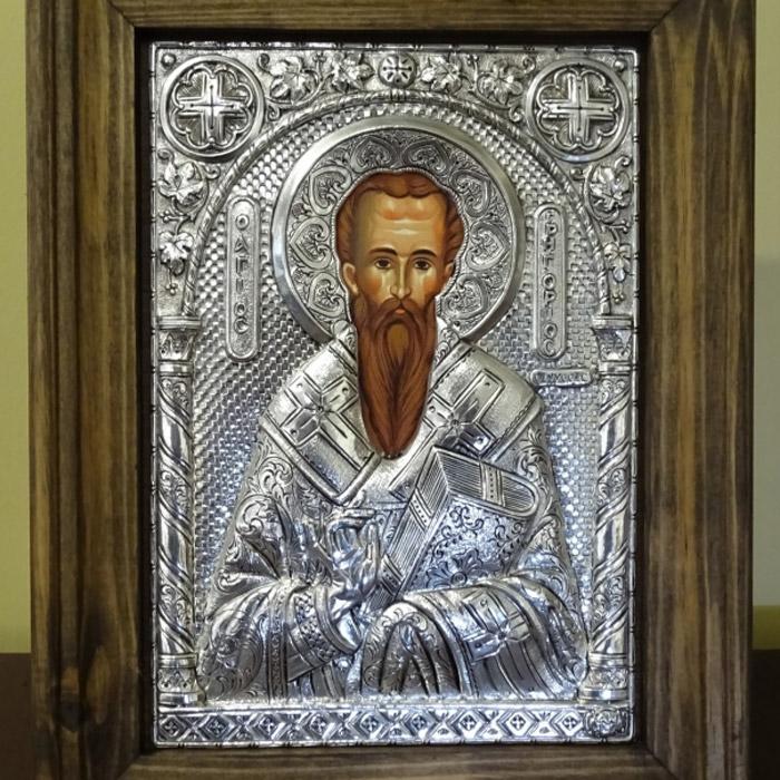 Εικόνα ασημένια Άγιος Γρηγόριος