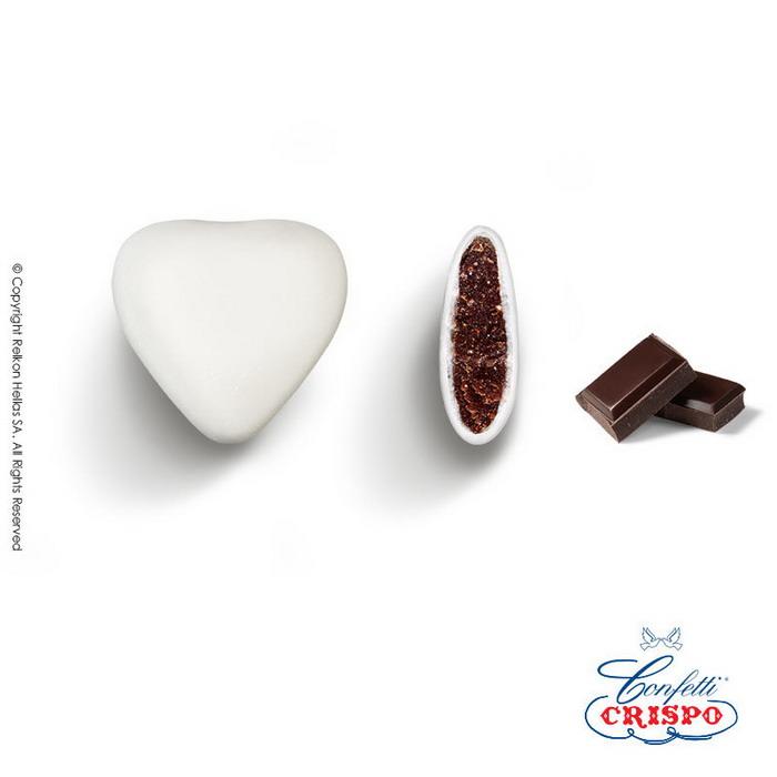 Κουφέτα σοκολάτα καρδιά Ιταλίας Crispo Choco Maxi