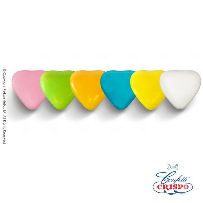 Καρδιές κουφέτα πολύχρωμες Ιταλίας Crispo Choco Maxi