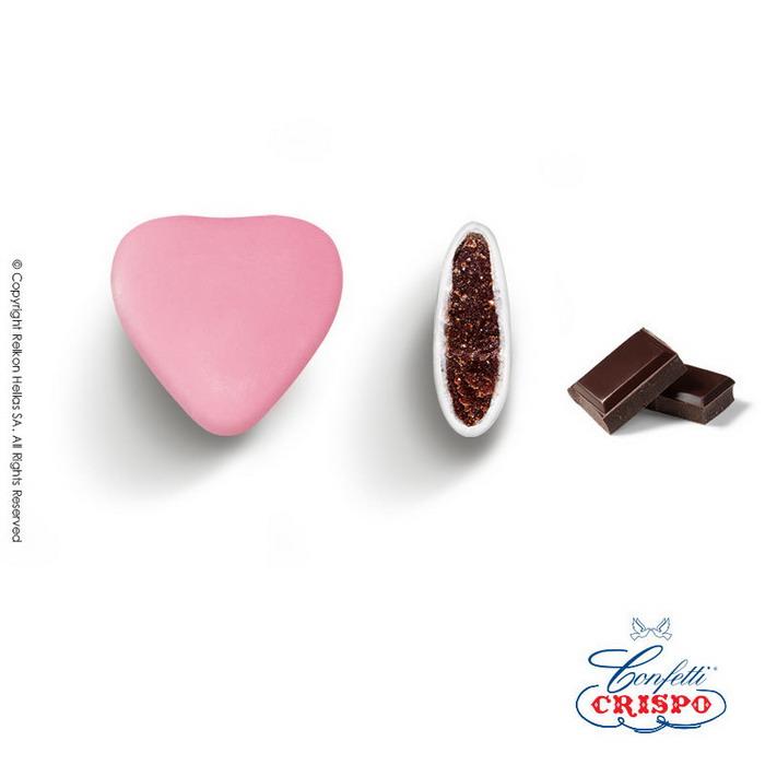 Κουφέτα καρδιά ροζ Ιταλίας Crispo Choco Maxi
