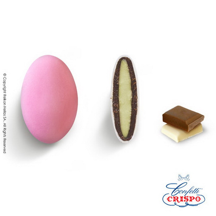 Κουφέτo σοκολάτας Crispo Chocopassion αποχρώσεις ροζ