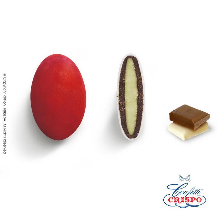 Κουφέτα σοκολάτας σε κόκκινο χρώμα