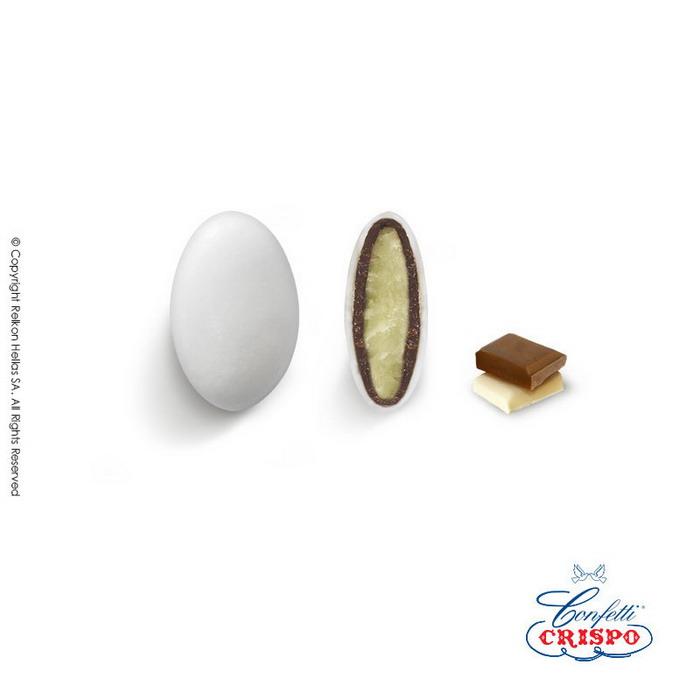 Κουφέτo σοκολάτας με λευκή απόχρωση