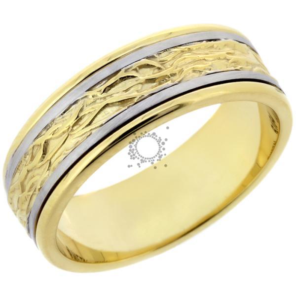 Χειροποίητες βέρες γάμου λευκός & χρυσός