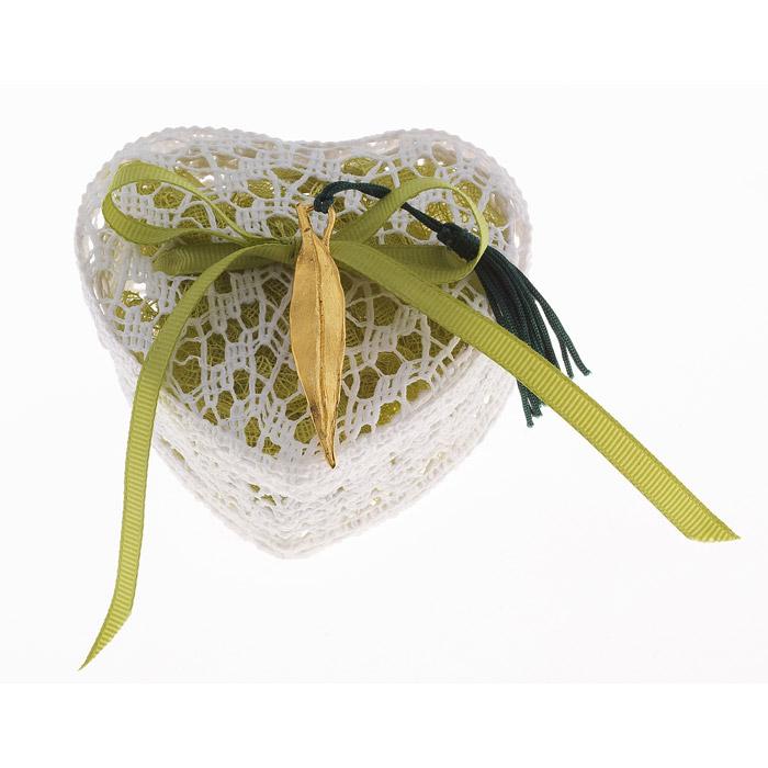 Φύλλο ελιάς με κουτάκι πλεκτό μπομπονιέρα