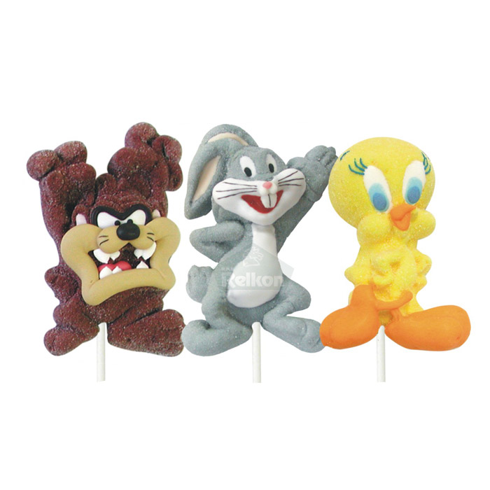 Γλειφιτζούρι marshmallow 3D με τους ήρωες της lloney tones