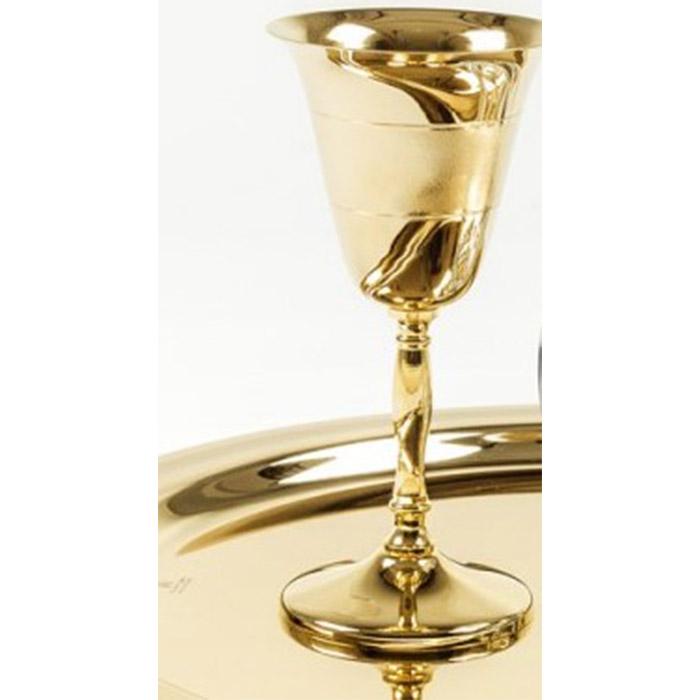 Ποτήρι κρασιού επιχρυσωμένο σε κίτρινο χρυσό επάργυρο για γάμο