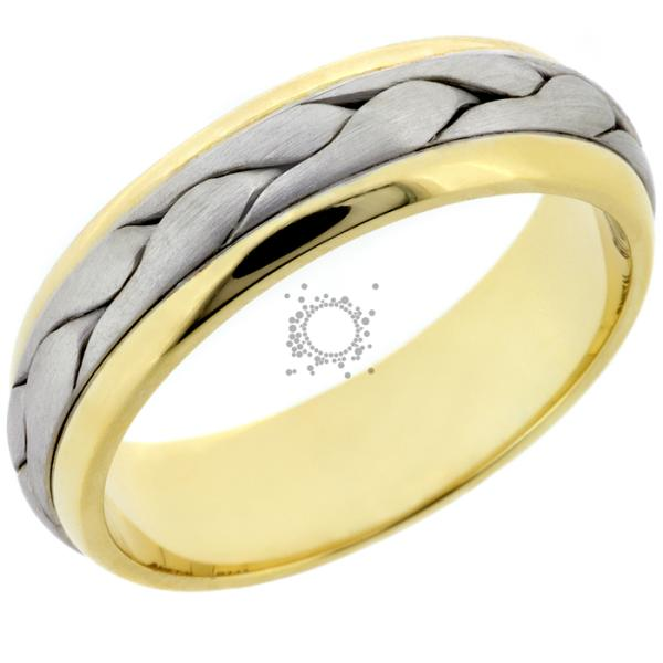 Χειροποίητες βέρες γάμου λευκός & κίτρινος χρυσός
