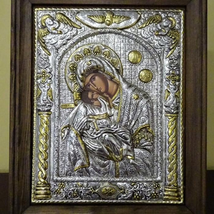 Εικόνα ασημένια Παναγία των Αγγέλων
