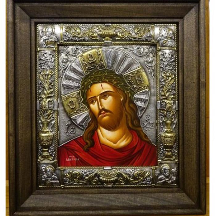 Εικόνα ασημένια με παράσταση τον Χριστό