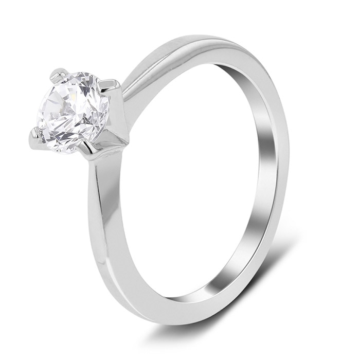 Μονόπετρο λευκόχρυσο με διαμάντι σε τιμές οικονομικές
