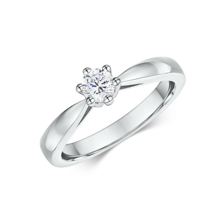 Mονόπετρο δαχτυλίδι με διαμάντι
