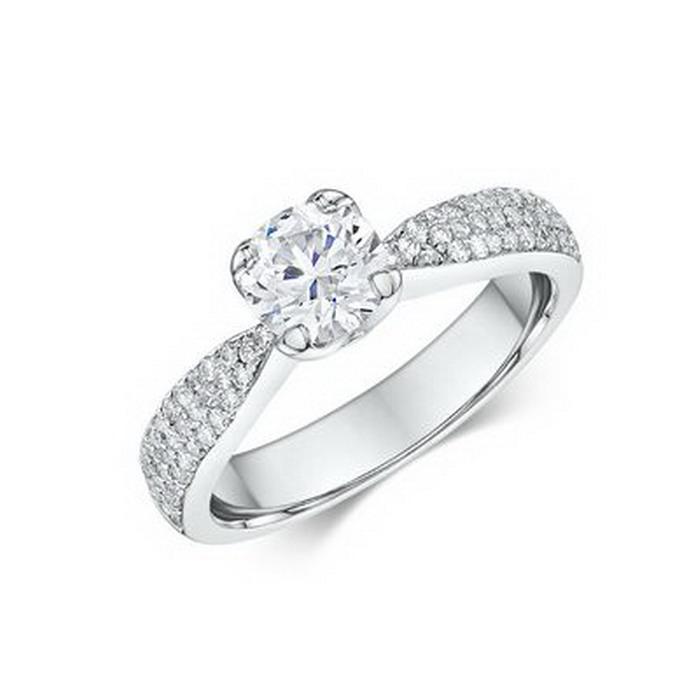 Μονόπετρα δαχτυλίδια με διαμάντια