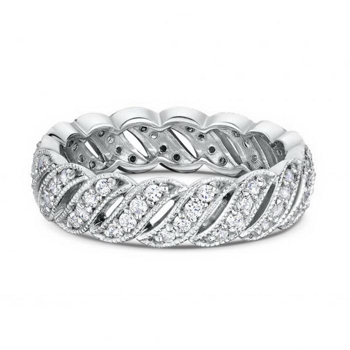 Δαχτυλίδι λευκόχρυσο με μπριγιάν
