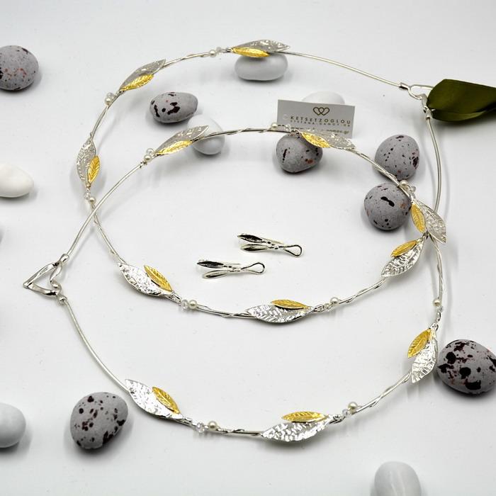Στέφανα δίχρωμα νέα σχέδια με ελιάς φύλλα