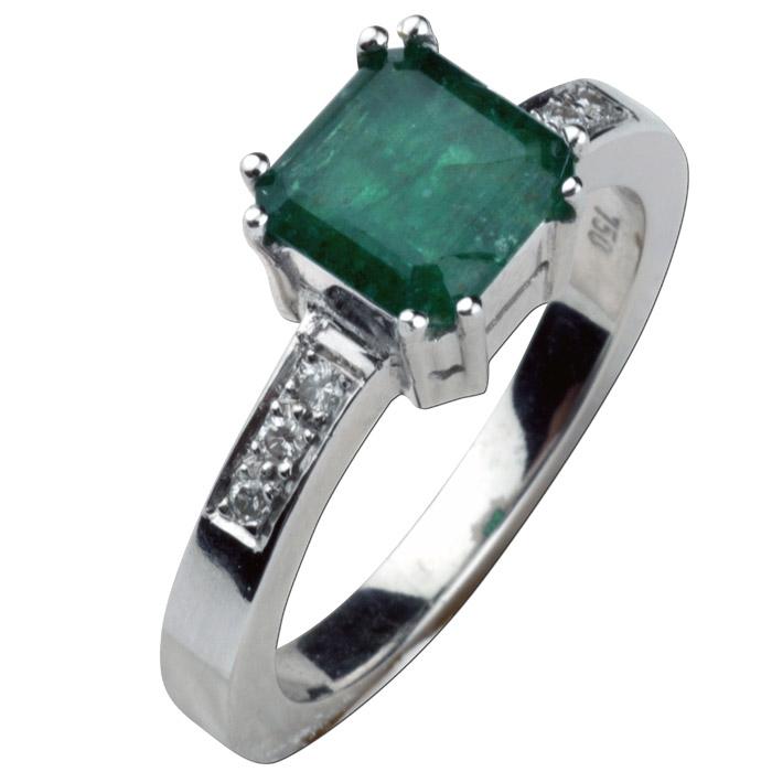 Δαχτυλίδια κοσμήματα με σμαράγδι και διαμάντια