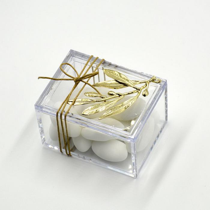 Μπομπονιέρα κουτάκι με ελιά για γάμο
