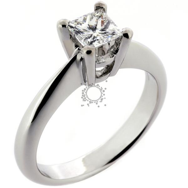 Μονόπετρο princess cut diamond