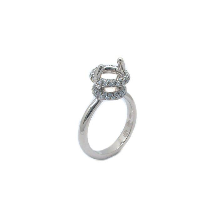 Μονόπετρο δαχτυλίδι Κ18 λευκό χρυσο με διαμάντι κοπής μπριγιάν.