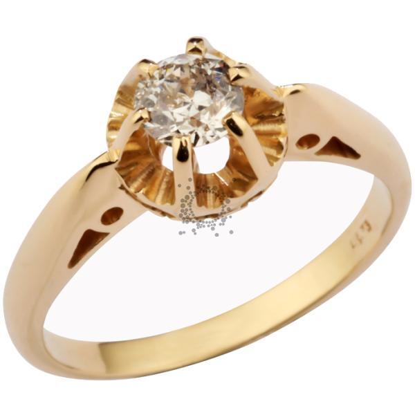 Μονόπετρο χρυσό κλασσικό με διαμάντι