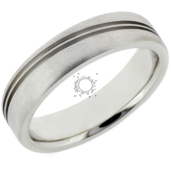 Βέρες για γάμο σε Κ18 λευκόχρυσο σε μάτ φινίρισμα