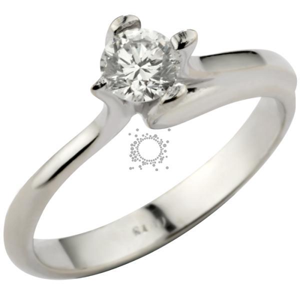Μονόπετρο δαχτυλίδι χειροποίητο με διαμάντι