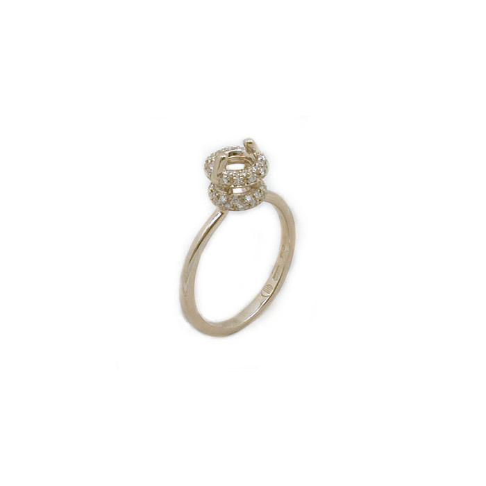 Μονόπετρα με διαμάντια δαχτυλίδι αρραβώνα