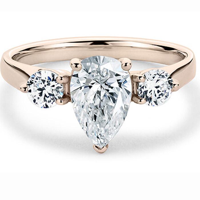 Ροζ χρυσό δαχτυλίδι με διαμάντια για πρόταση