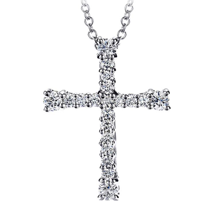 Σταυρός βάπτισης λευκόχρυσος με διαμάντια