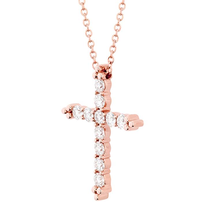 Χειροποίητος σταυρός βάπτισης σε ροζ χρυσό
