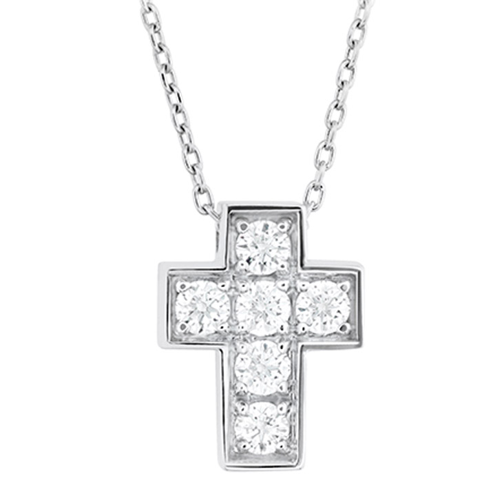 Λευκόχρυσος σταυρός σε μοναδικά σχέδια