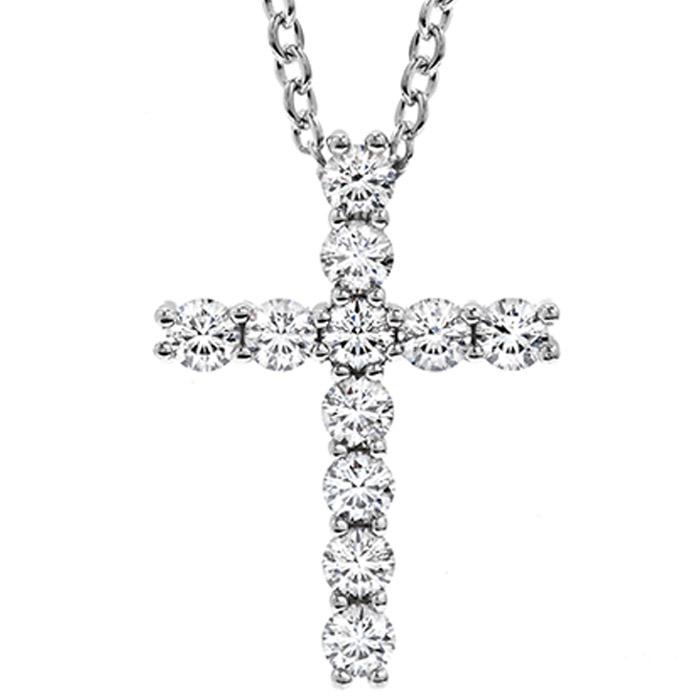 Λευκόχρυσος σταυρός με μπριγιάν