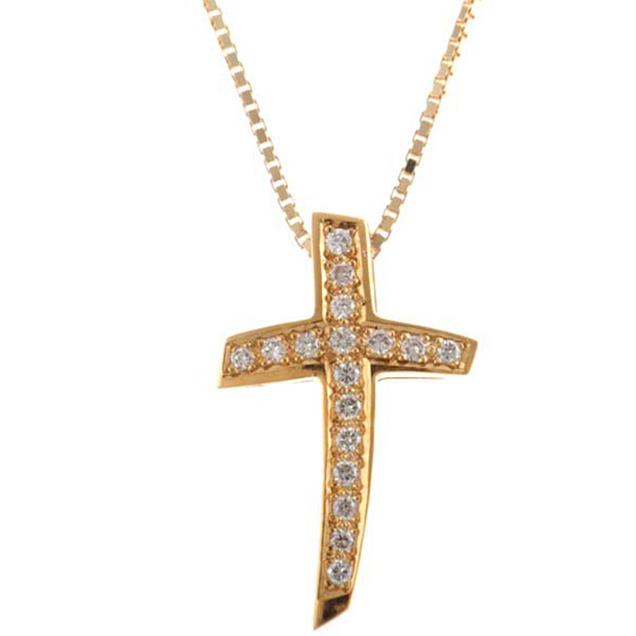 Χρυσός σταυρός με λιτή πολυτέλεια
