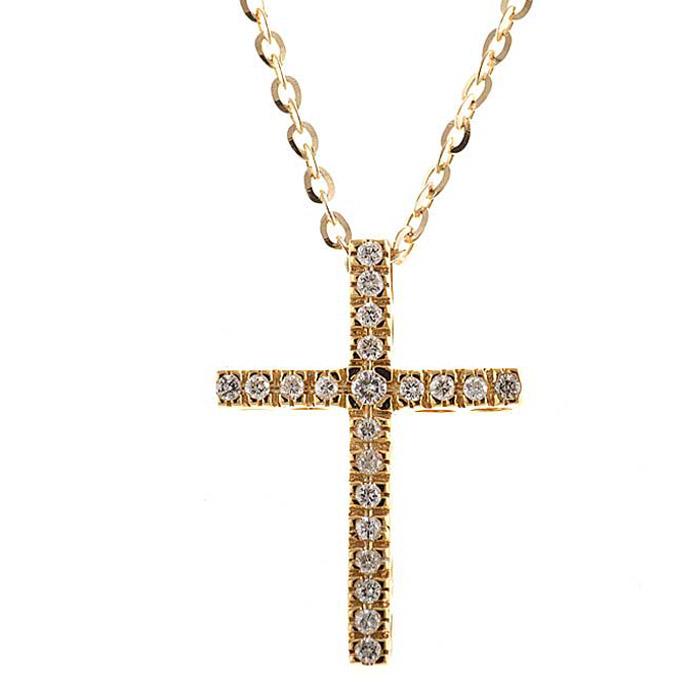 Σταυρός σε χρυσό διακοσμημένος με διαμάντια