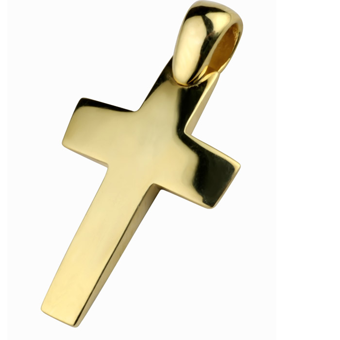 Χειροποίητος σταυρός βάπτισης σε χρυσό για αγόρι