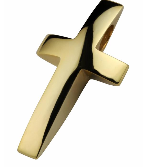 Χειροποίητος χρυσός σταυρός βάπτισης για αγόρι