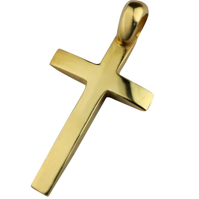 Σταυρός βάπτισης σε κίτρινο χρυσό