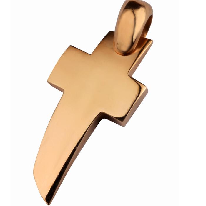 Μοντέρνος βαπτιστικός σταυρός σε ροζ χρυσό